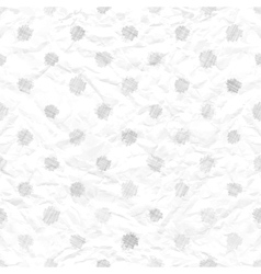 Seamless crumpled paper vector image vector image
