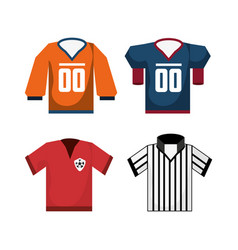 Set american football sport game unifrom vector