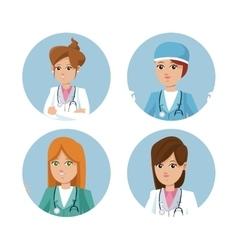 set women healthcare medicine service vector image