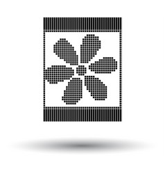 Sewing ornate scheme icon vector