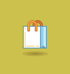 shopping bag on light green vector image