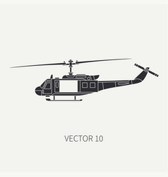 silhouette line flat icon military vector image