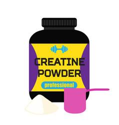 Sports nutrition creatine powder professional vector