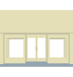 Storefront empty storefront clean store windows vector