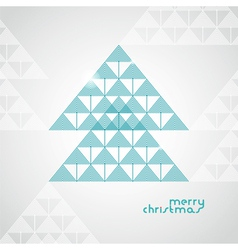 Stylized geometrical christmas tree from arrows vector