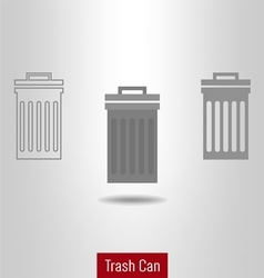 Trashcan icon set vector image vector image
