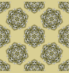 Vintage cards with seamless pattern vector
