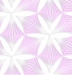 White colored paper pink pointy trefoils vector