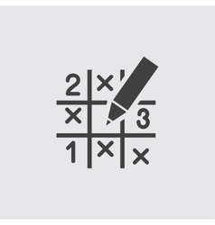 Sudoku icon vector image