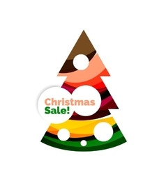 Colorful christmas abstract banner design with vector