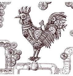 mechanical cock vector image