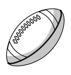 Amerian football ball equipment - shadow vector