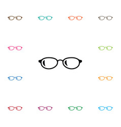 Isolated eyeglasses icon geek element can vector