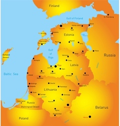 Baltic region countries vector