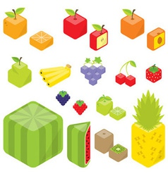 Cubic fruits vector