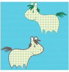 patchwork ponies vector image
