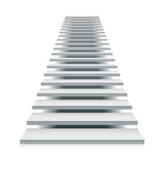 White staircase vector