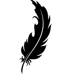 Feather silhouette vector
