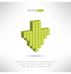 Download icon in special pixel design Clean and vector image