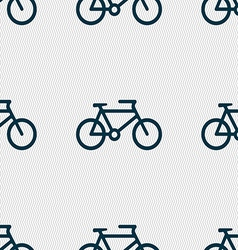 Bike icon sign seamless pattern with geometric vector