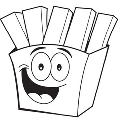 Cartoon french fries vector