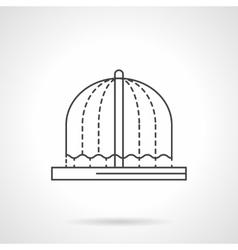 Fountains decor flat line icon vector