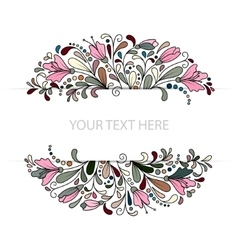 Colorfull floral background hand drawn vector