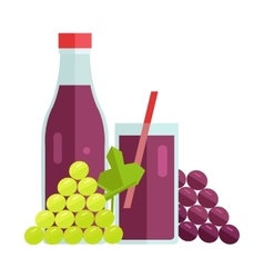 Grape juice concept vector