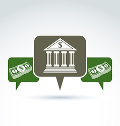 Banking symbol financial institution icon speech vector