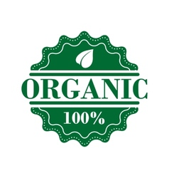 Bio organic label vector image