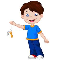 carrying keys vector image