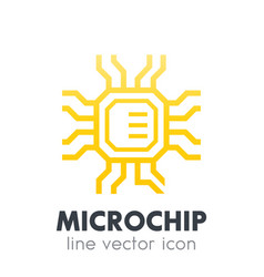 Chipset microchip icon on white vector