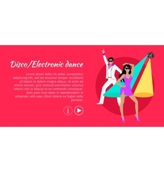 Disco and electronic dance web banner vector