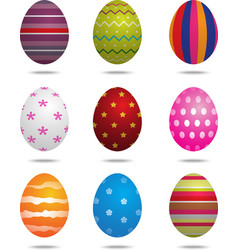 Easter eggs isolated vector