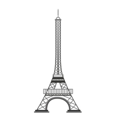 eiffel tower paris landmark vector image vector image