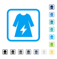 Electricity female dress framed icon vector