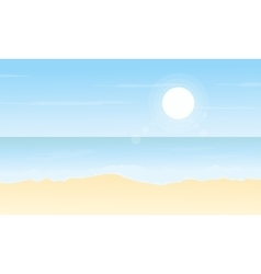 flat of beach scenery vector image vector image