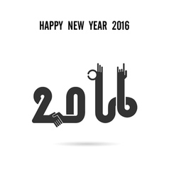 Happy New Year 2016colorful greeting card design vector image vector image