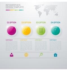 Infographic design white circles vector