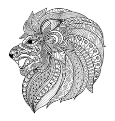 Lion king coloring vector image
