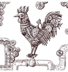 mechanical cock vector image vector image