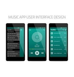 Music modern app user interface design vector image