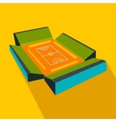 Open soccer field flat icon vector