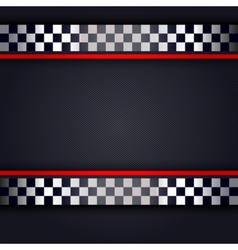 Perforated metallic sheet for race vector image vector image