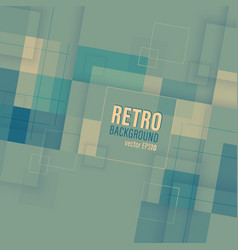 Retro background with square transparent pattern vector