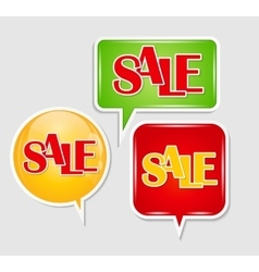 Sale sticker banner template vector