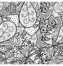 Seamless wave hand-drawn pattern vector