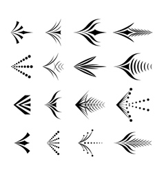 Set of decorative graphical arrows vector image vector image