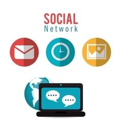 Social network computer dialogue world vector
