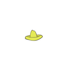 sombrero cartoon icon vector image